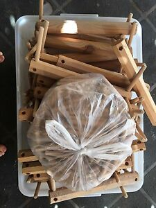 Large tub of wood pieces Golden Beach Caloundra Area Preview