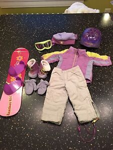 American Girl Doll Snowboard Set