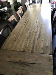 12 seater extendable dining table with 8 chairs