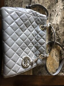 Light grey, authentic Micheal Kors purse