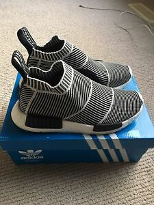 Adidas City Sock Black white Glow