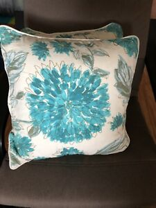 Turquoise and Gold Cushions