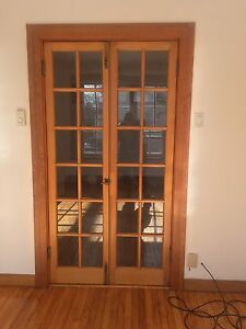 Vintage Wood French Doors Mouldings/Frame - $150.00 OBO