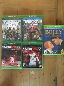 Xbox One games (price for all 5)