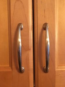 Satin Nickel Cabinet Pulls - 96 mm C to C (41 total count)