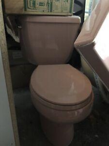Bain à remous, toilettes et 2 vanité