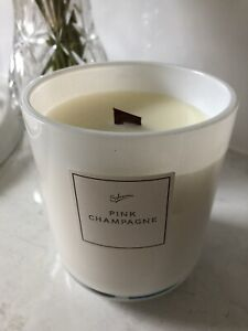 Sohum Eco Wood Wick Candle - Pink Champagne