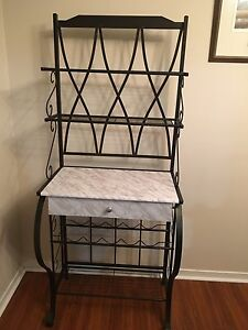 Faux marble wine/bakers rack