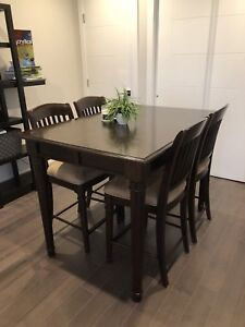 Pure wood dining table + fancy shelf