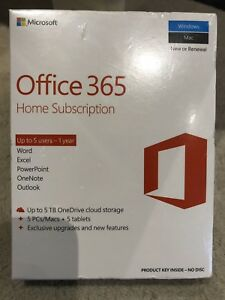 Microsoft Office 365 Home (5 users), 1-Year Subscription