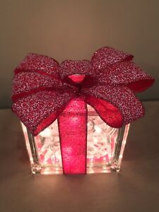 Christmas decor glass block gift!