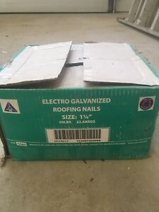 Box of roofing nails