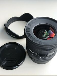 Sigma 10-20mm f1:4-5.6 for canon