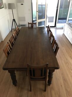 10 seater Willow Creek Dining table and chairs