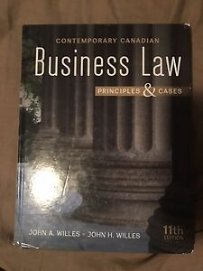 Contemporary Canadian business law textbook