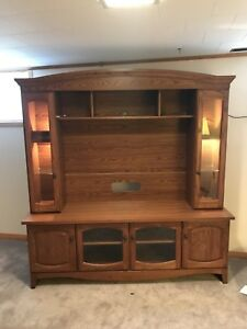 Oak Wall Unit - NEW PRICE $350