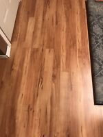 Hardwood finish laminate flooring