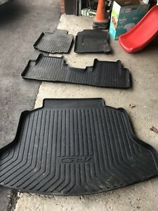 Honda OEM rubber floor mats and cargo tray