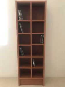 CD DVD book shelf case thing - wood look- perfect condition