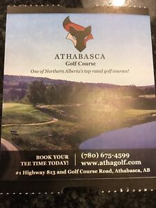Athabasca Golf Course - Free 18 holes and Cart Seat