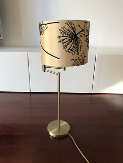 Two floor lamps & one table lamp