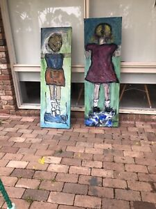Original art on canvas children Sunshine North Brimbank Area Preview