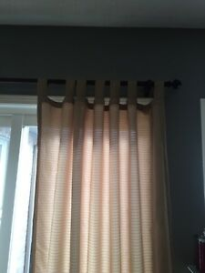 4 Curtain Panels - very light brown