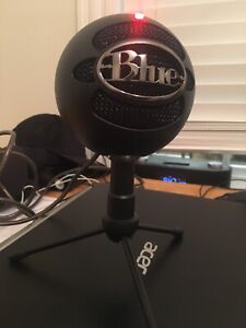 Blue Snowball Microphone For Computer And Other Electronics
