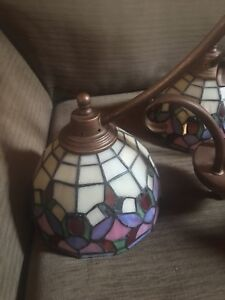 Tiffany stained glass light fixture