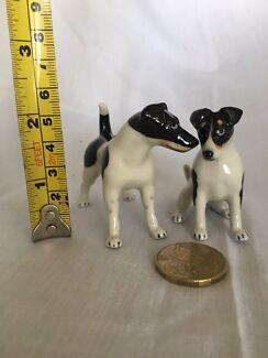 Miniature Porcelain Smooth Fox Terrier Set