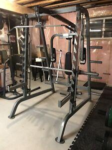 Keys Fitness Olympic Smith Machine / Squat Rack