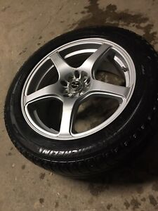 215/55r17 Michelin winter tires on mag RTX poison series