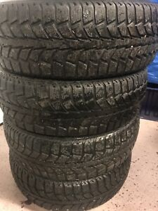 185/65/15  uniroyal winter tires 80%