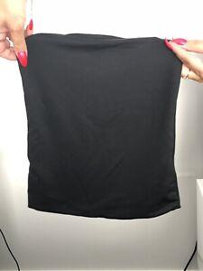 Black silk crop top/boobtube
