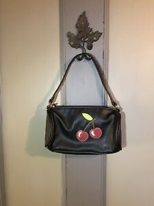 Black Leather Purse Cherries by Tommy Hilfiger