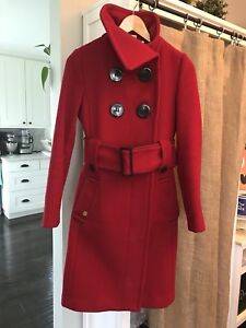 Soia & kyo red wool coat xs