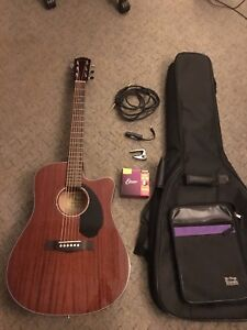 2018 Fender CD-60SCE acoustic electric guitar package