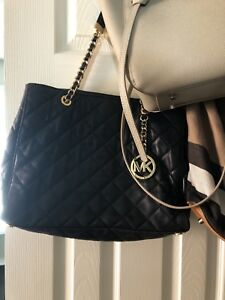 Michael Kors (MK) Susannah Large Quilted- Lamb Leather  Handbag