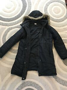 Motherhood maternity winter coat and old navy maternity vest