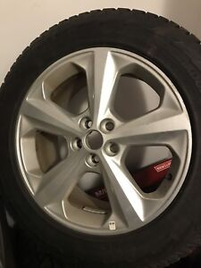 Winter tires and alloy wheel set