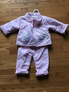 Baby girl 12 months warm jacket and pants
