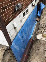 Waterproofing foundation repair