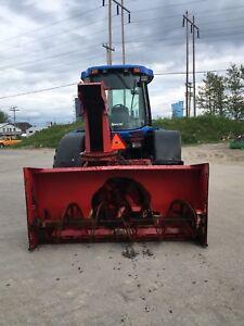 Tracteur tv145 avec souffleur