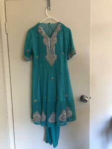 Beautiful teal Pakistani/ Indian Anarkali dress Highgate Hill Brisbane South West Preview