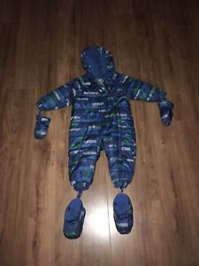 Full one piece snow suit for 12 month old boy