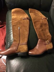 Naturalizer leather & suede boots size 7.