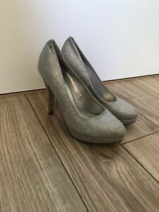 Size 6.5 Silver High Heels