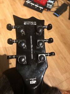 Black Grover guitar tuners