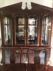 Beautiful Antique Dining Table and Hutch