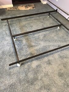 two adjustable metal bed frames